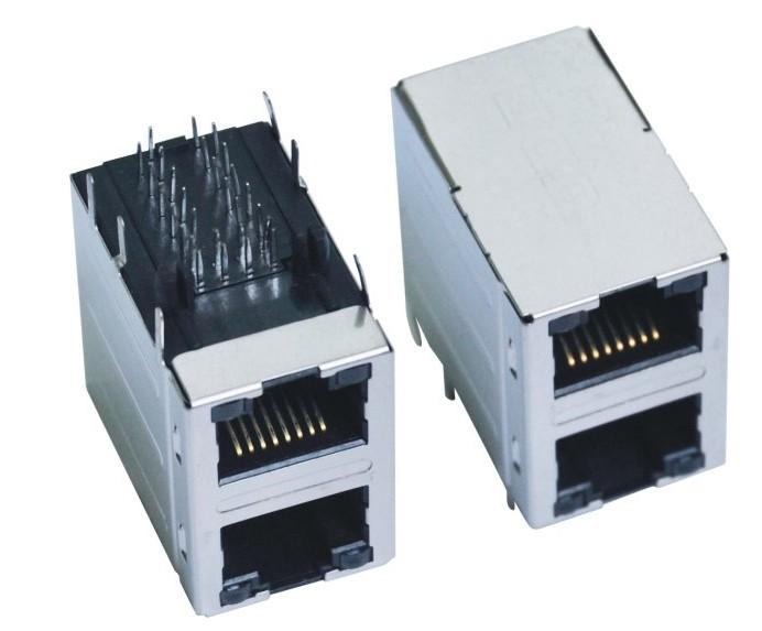 屏蔽单层USB 带滤波器网络插口