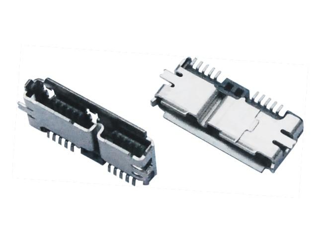 MICRO USB 3.0 AB F 端子外壳SMT