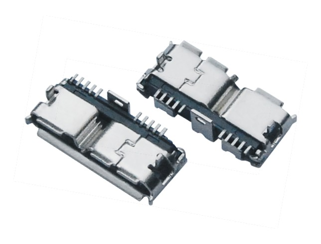 MICRO USB 3.0 BF 端子SMT 外壳DIP L11.30MM