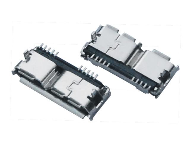 MICRO USB 3.0 BF 端子SMT 外壳DIP L11.55MM