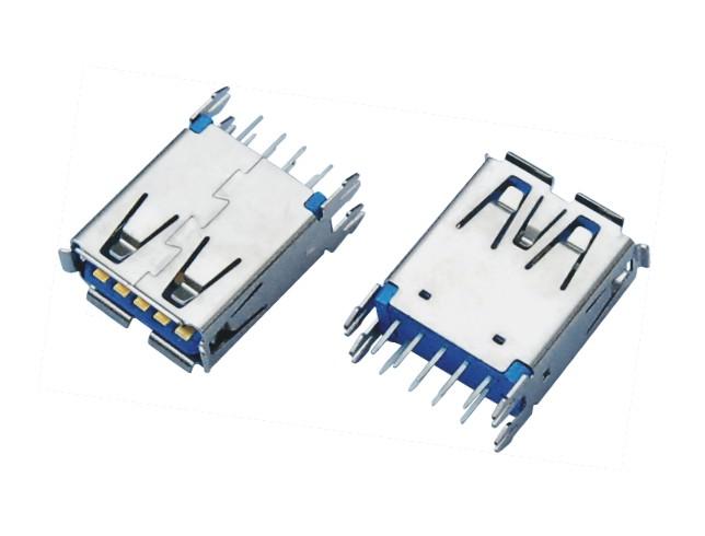 USB3.0 AF 180D DIP 外壳四脚鱼叉