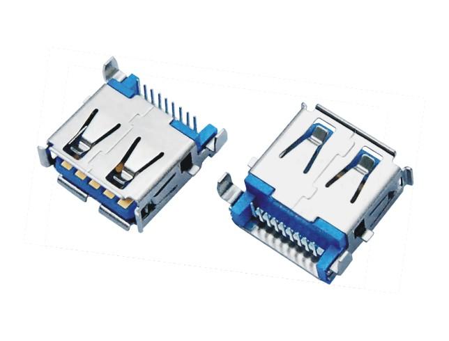 USB3.0 AF 沉板DIP 方脚有卷边