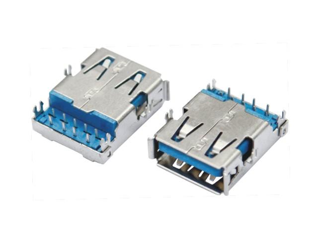 USB3.0 AF 深沉板反向DIP 外壳四脚DIP
